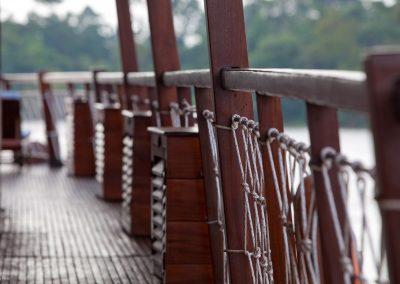 Schiffsdeck, Mekong, Vietnam
