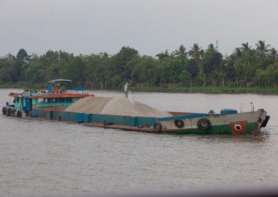 Lastkahn, Mekong, Vietnam