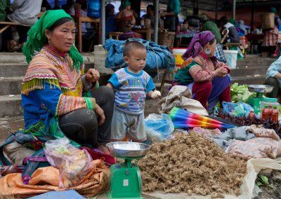 Markt in Bac Ha, Vietnam