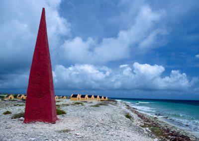 Ehemalige Sklavenhütten und zugehöriges Denkmal, Bonair